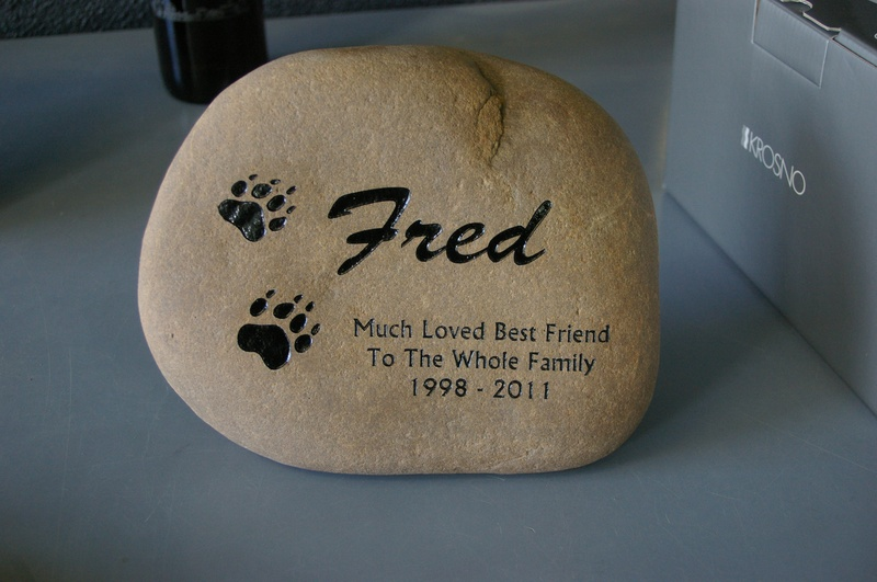 Pet Memorial River Rock