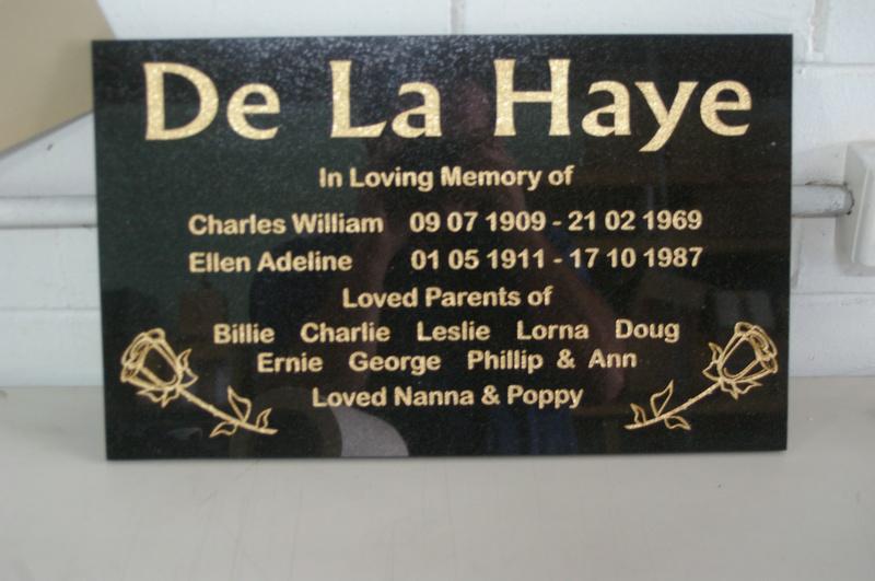Headstone Plaque