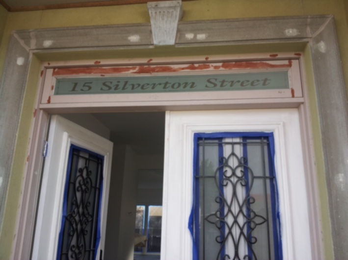 Etched Transom window